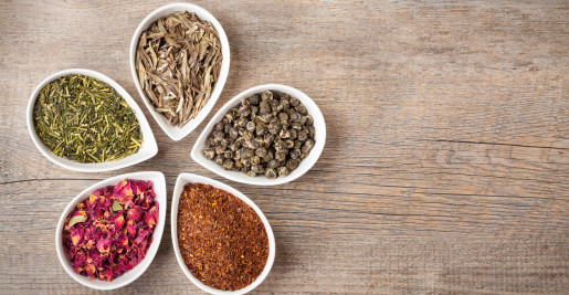 Bowls with spices